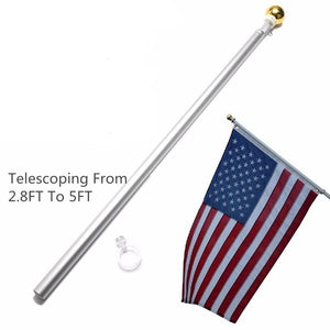 5Ft Telescoping Hand Held Flag Pole