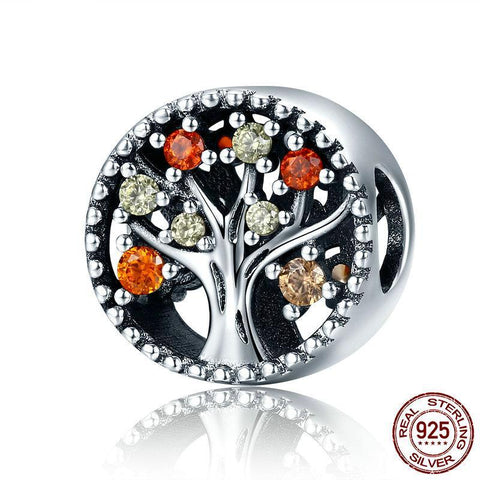 Image of Sterling Silver Autumn Tree of Life Bead Charm