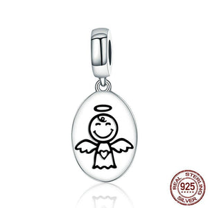 Sterling Silver Guardian Angel Dangle Bead