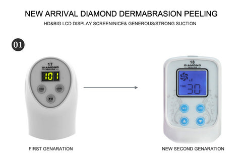 Full Face & Body Diamond Microdermabrasion Machine, Skin Peeling Vacuum, Blackhead, Acne Scar Removal