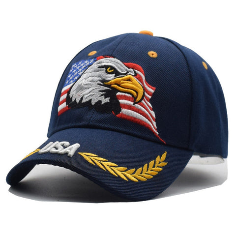 2018 USA Flag Eagle Embroidery Baseball Cap
