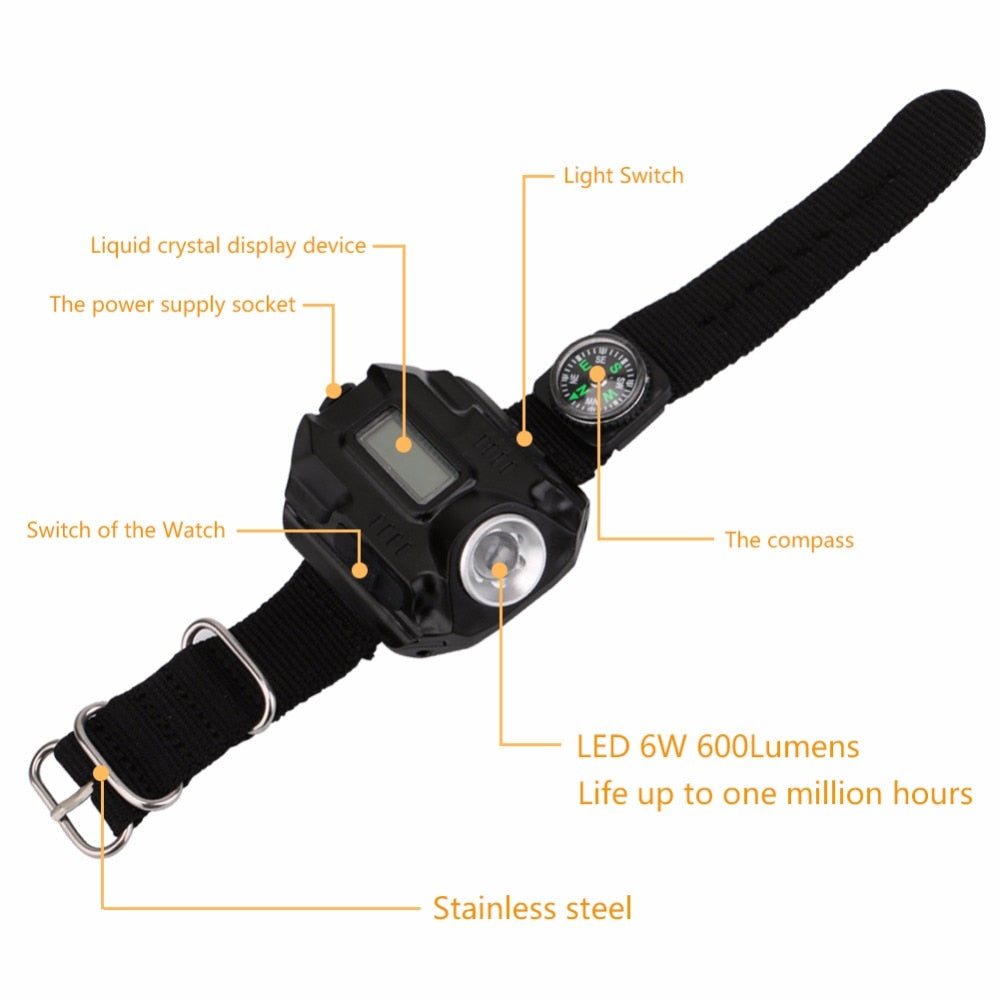 Tactical Rechargeable Flashlight Tactical Watch