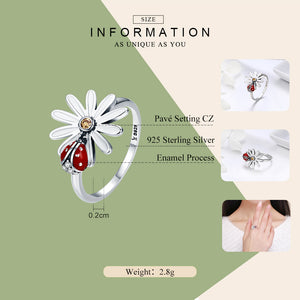 Flower and Ladybug Wonderland Ring