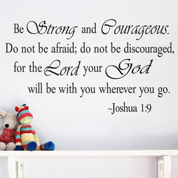 "Joshua 1:9 ""Be Strong and Courageous,"" Wall Decal"