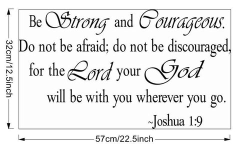 "Image of Joshua 1:9 ""Be Strong and Courageous,"" Wall Decal"
