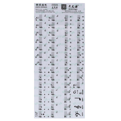 Piano Transparent Keyboard Stickers