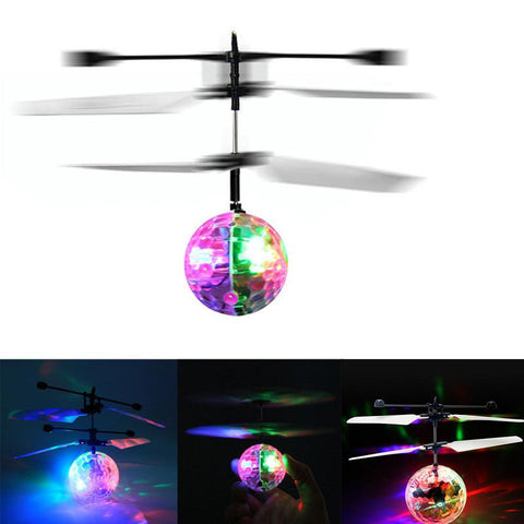 Image of Colorful Flying Drone Ball with LED Lighting
