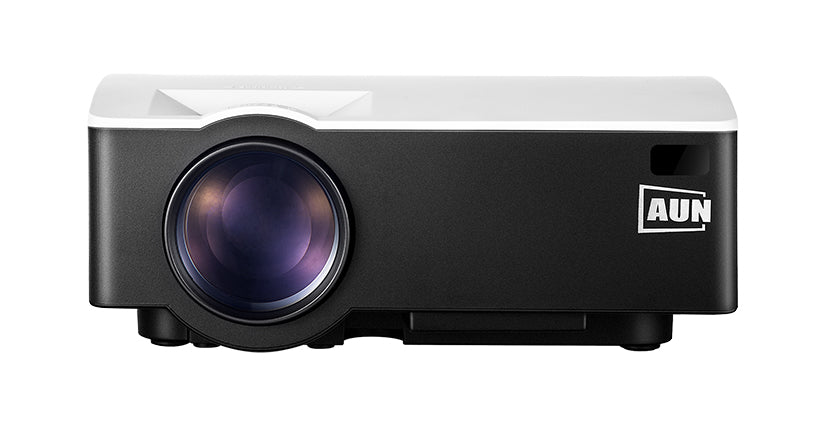AUN AKEY1 LED Mini Projector, 1800 Lumens, Supports Full HD Video Multimedia Home Theatre Player
