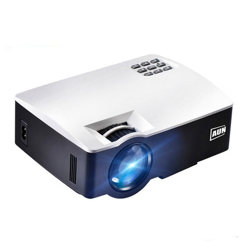 Image of AUN LED Mini Projector, 1800 Lumens, Supports Full HD, WiFi, Bluetooth, 3D, 4K Video, AKey1Plus