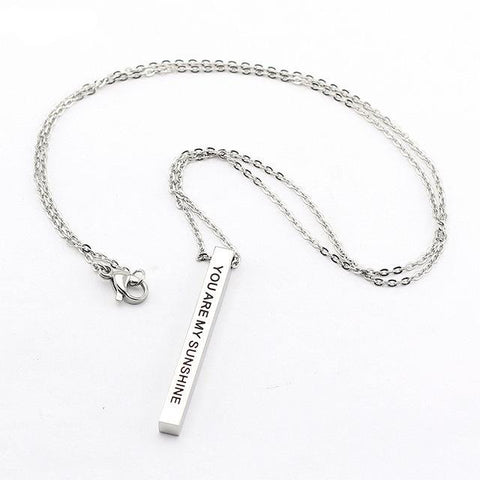 Inspirational Stainless Steel Necklace