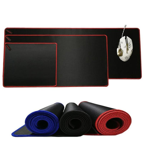 Image of Large Gaming Solid Black Mouse Pad
