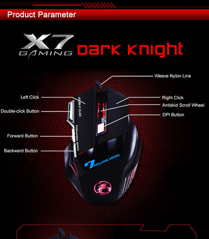 Image of Professional Gamer Wired 7 Button 5500 DPI LED Optical USB Gaming Mouse