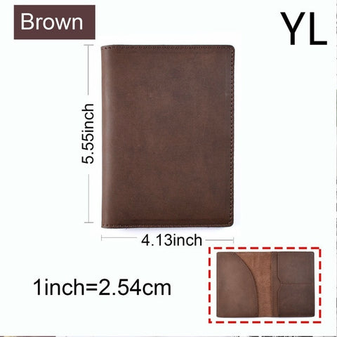 Genuine Leather Passport Cover Travel Wallet