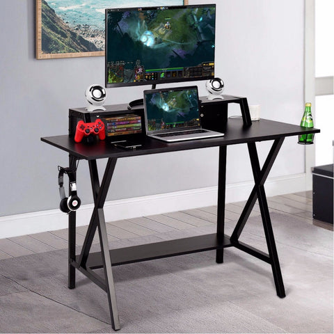 Image of Pro Gaming Desk All-In-One Cup Headphone Holder Power Strip Gamer Desk