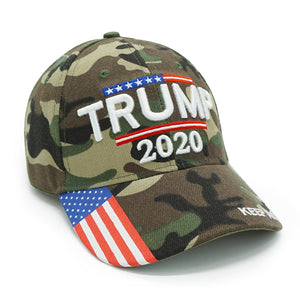 Trump 2020 Hat USA Flag Camouflage Baseball Cap