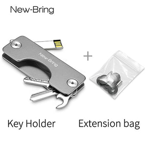 NewBring G2 Aluminum Metallic Wallet Smart Car Key Holder