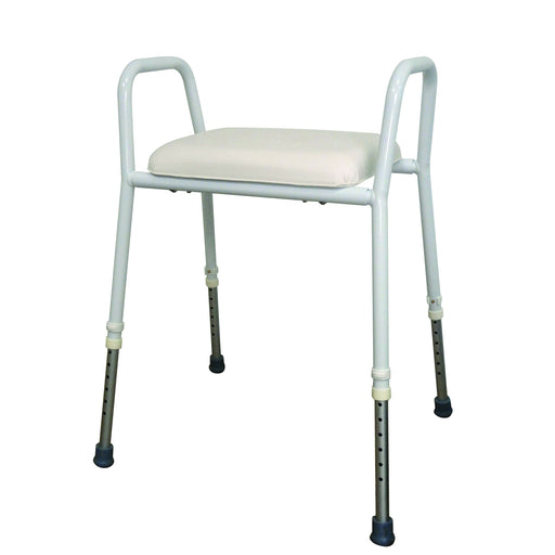 Shower & Toilet  Better Living Aluminium Shower Stool  Padded Seat - Wheelchair Australia