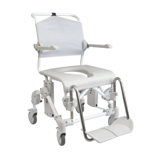 Heavy Duty Mobile 160 Shower Commode Chair with Pan Holder - Wheelchair Australia