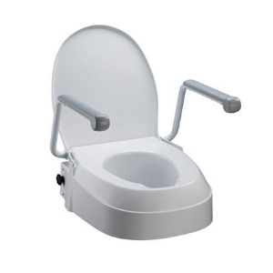 Raised Toilet Seat with Armrests - Wheelchair Australia