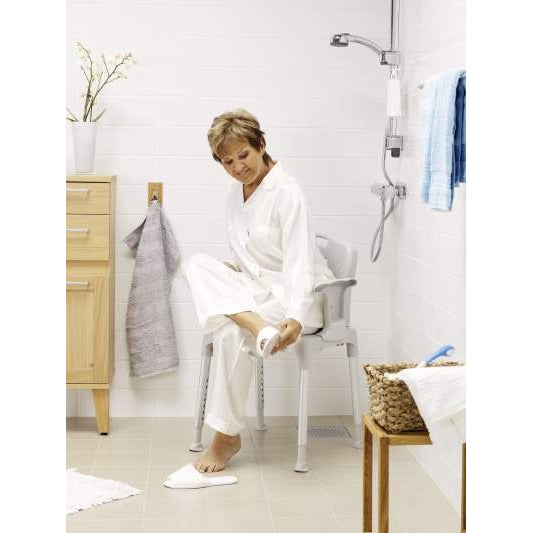 Bathing Aid Swift Shower Stool with Armrests and Back Support Low - Wheelchair Australia