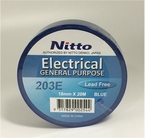NITTO General Purpose 203E PVC 18MM X 20M BLUE