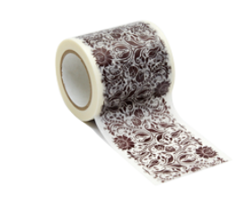 Decolfa Damask Brown Decal Wall Stickers