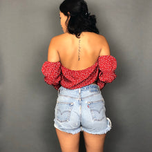 Polka Dot Top- Red