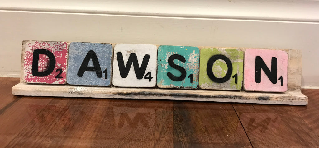 SCRABBLE LETTERS/STANDS