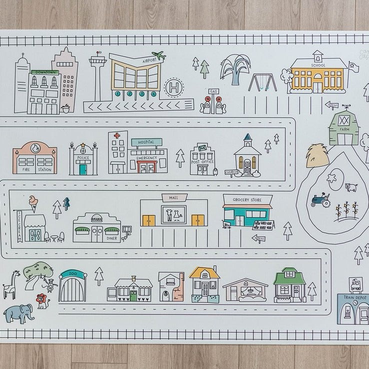 Medium Modern City Play Mat