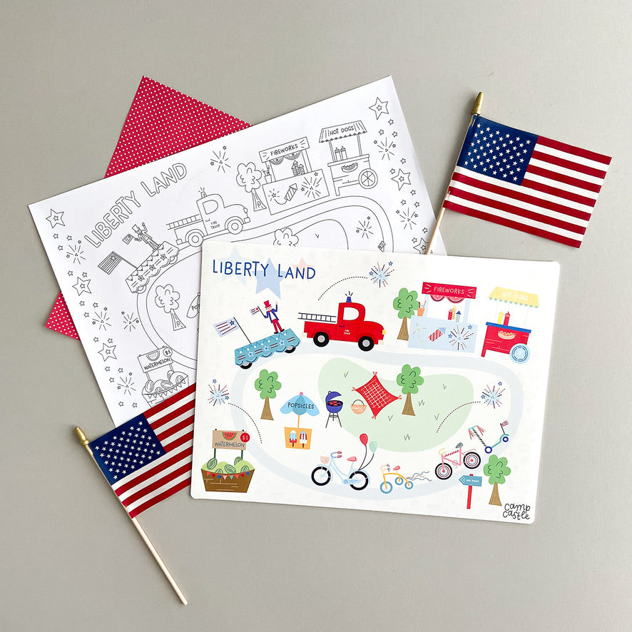 Mini Patriotic Play Mat
