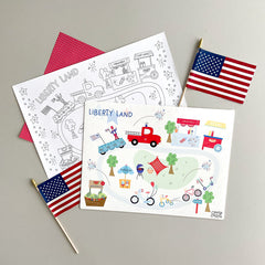 Patriotic Mini Play Mat