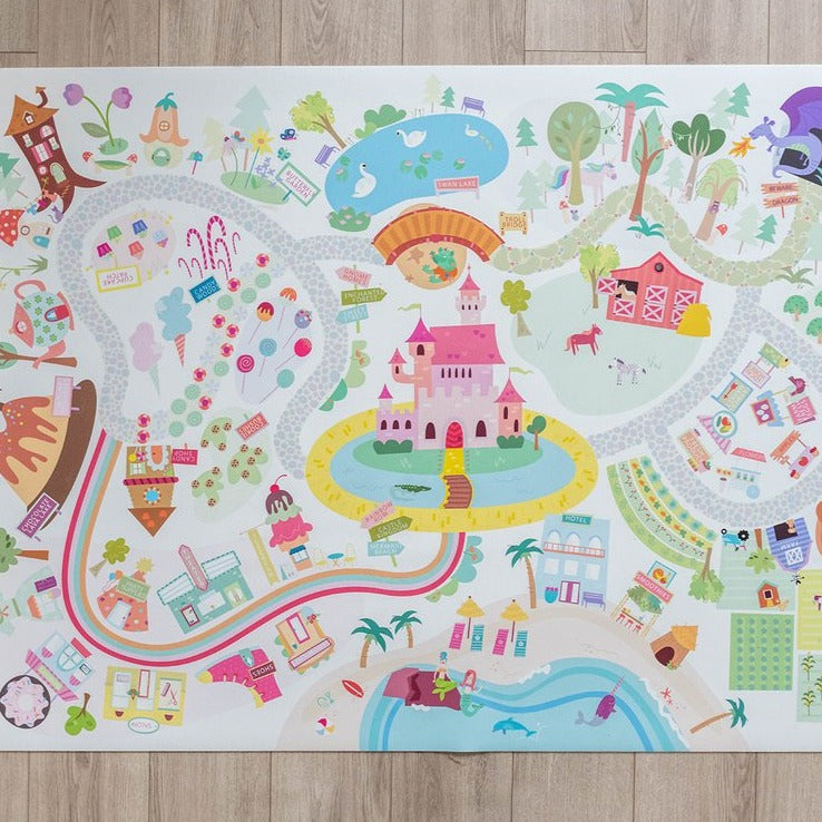 Medium Rainbow Land Play Mat