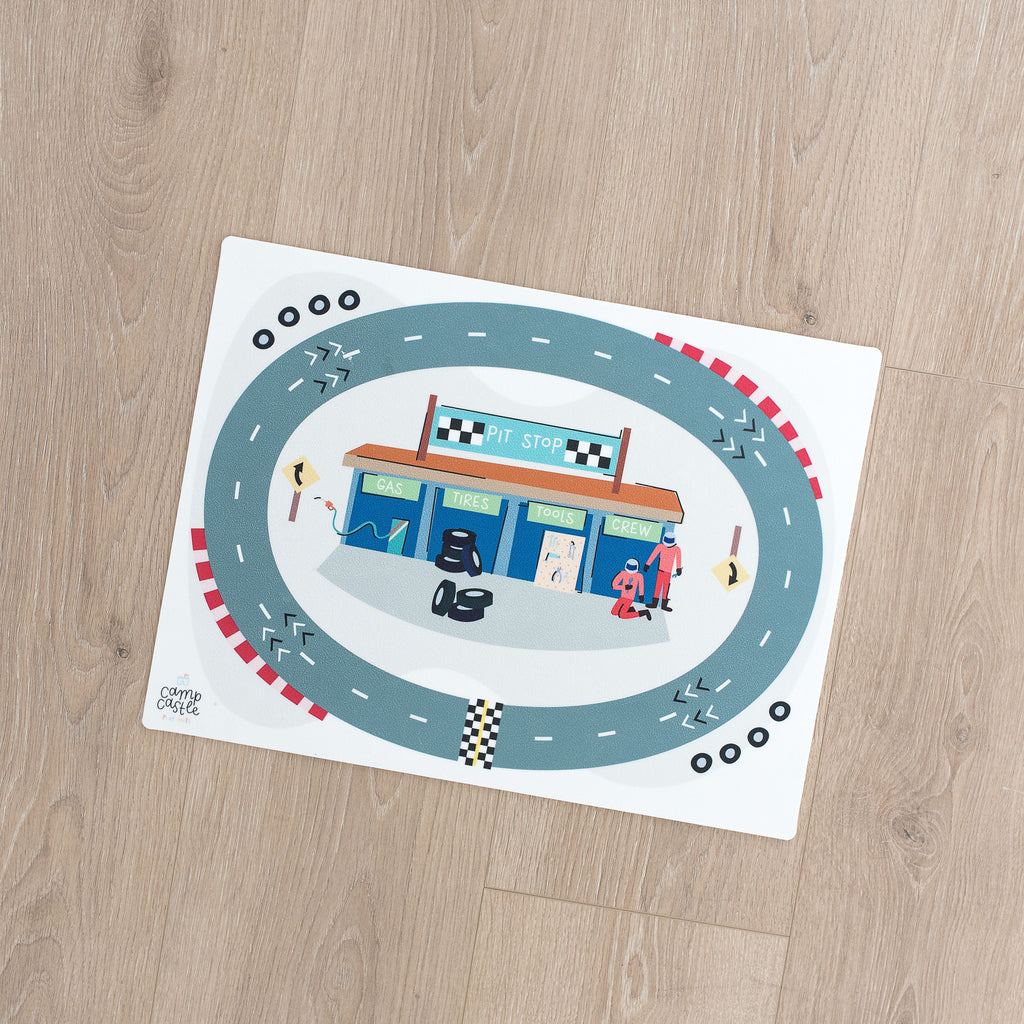 Mini Race Track Play Mat
