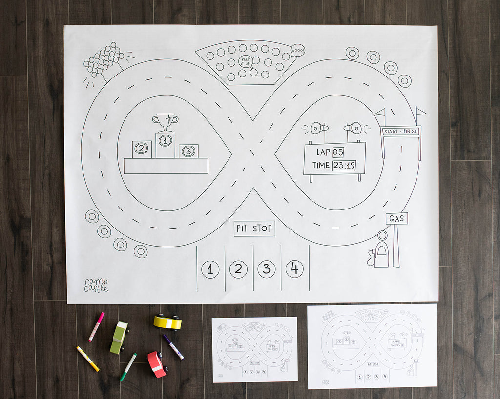 Printable Race Track Play Mat *Digital Download*