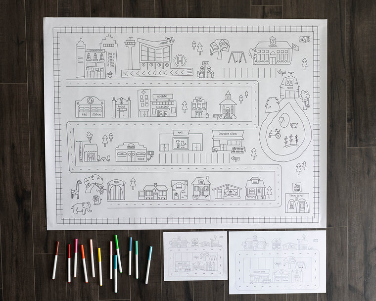 Printable Modern City Play Mat *Digital Download*