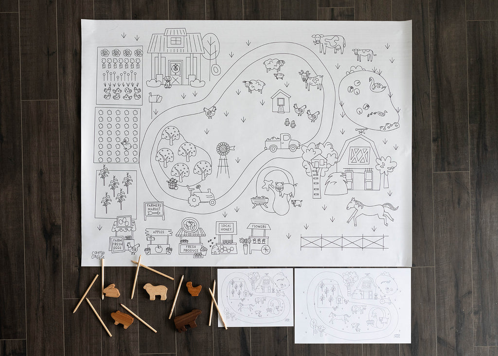 Printable Farm Play Mat *Digital Download*