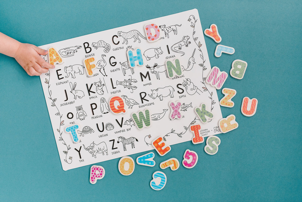 February *Limited Edition* Mini Play Mat - Modern Farmhouse Family - Animal Alphabet