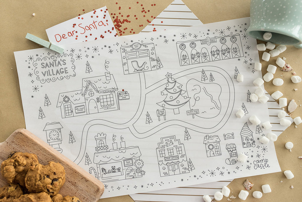 Printable Christmas Play Mat *Digital Download*