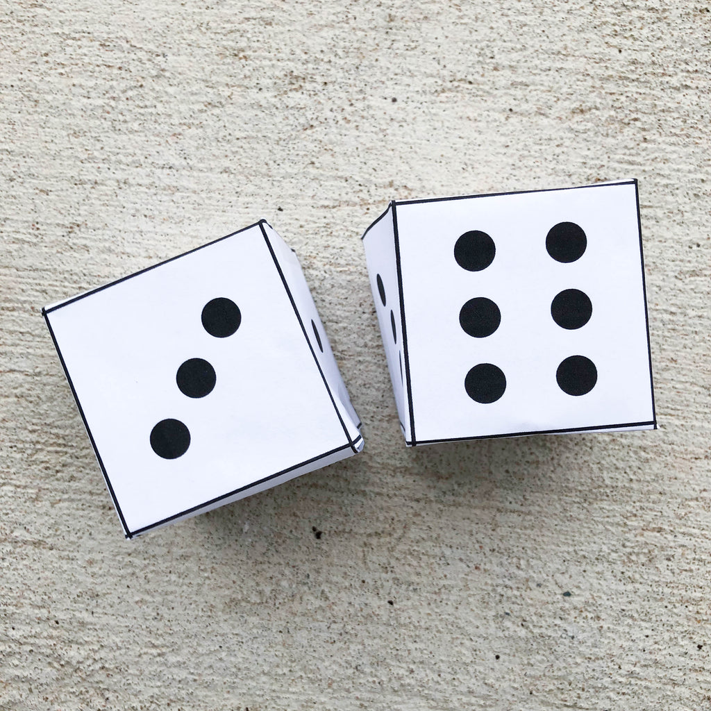 FREE Printable Dice *Digital Download* - Limited Edition