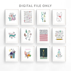Printable Holiday Art Set *Digital Download*