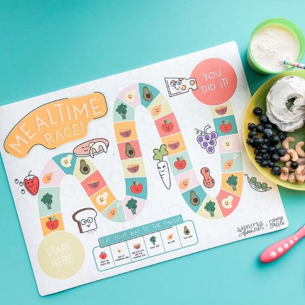 *Limited Edition* Mini Play Mat - Ashley's Fresh Fix - Mealtime Race