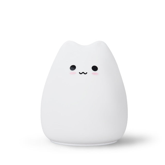 Kitty Soft Silicone LED Night Light Lamp