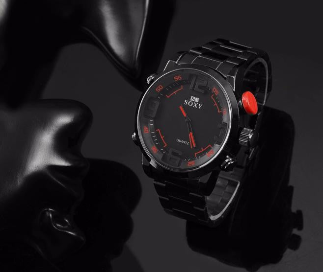 Mens Luxury Army Sport Wrist Watch Waterproof Analog Quartz Watches