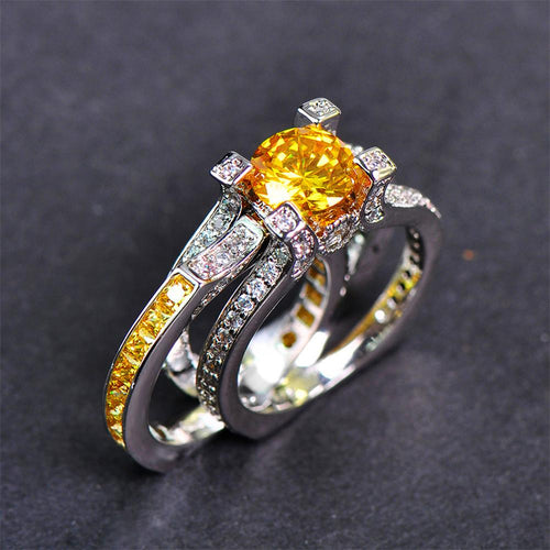 Luxury Women Round Wedding Ring - Bamos