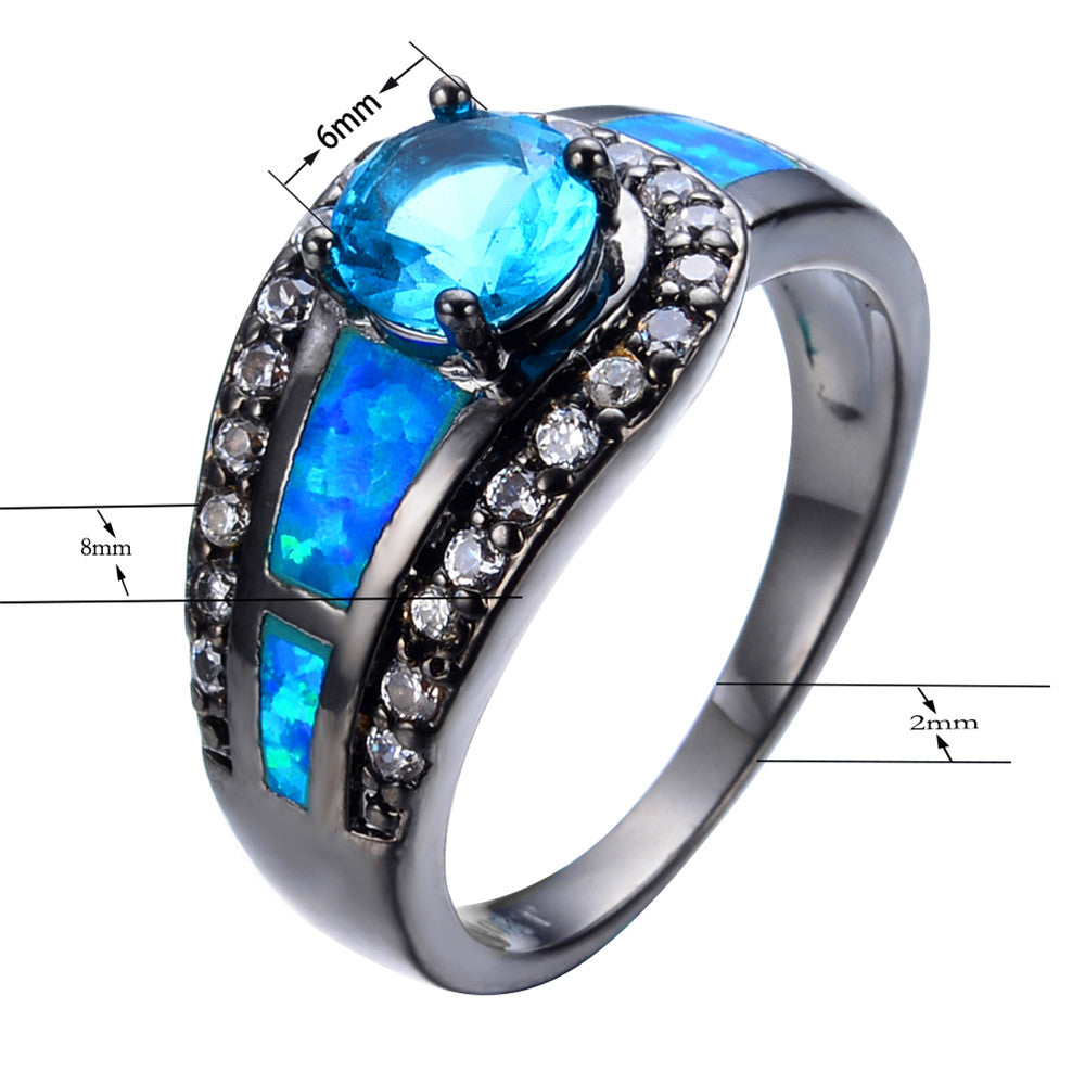 birthstone sterling previous my silver wedding black jewelry rings mermaid soul for products ring women spirit