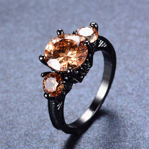 Women Champagne Topaz Ring(November Birthstone) - Bamos