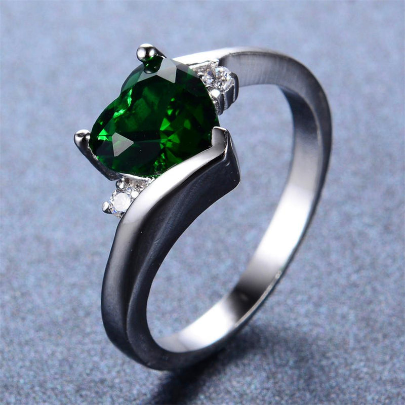 Emerald Heart Ring - Bamos