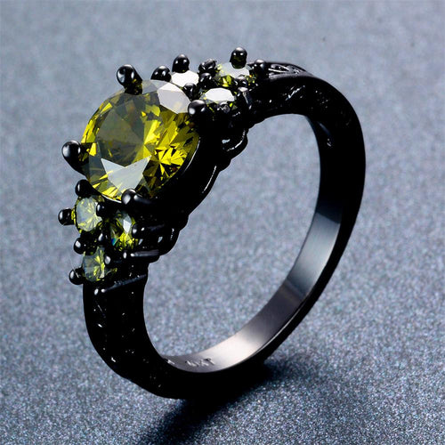 Peridot Round Ring (August Birthstone) - Bamos