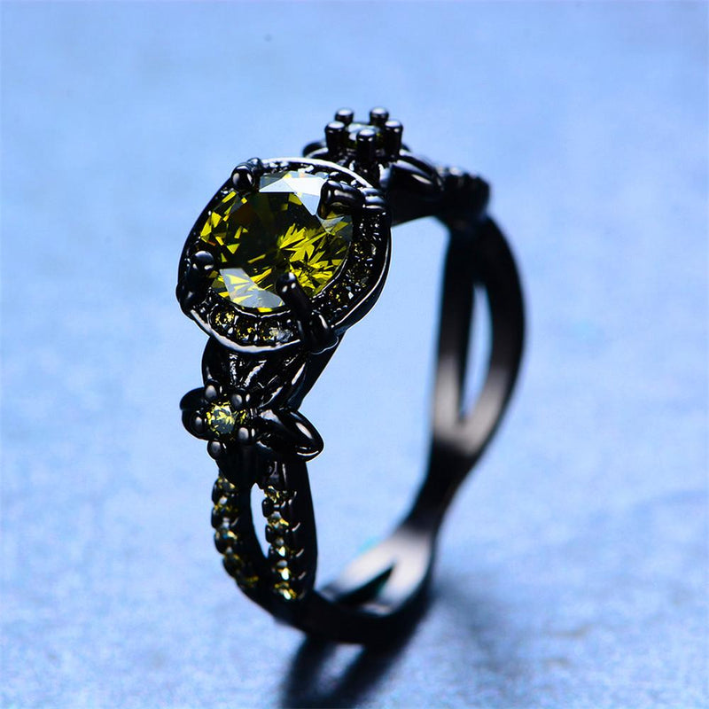 Peridot Flower Ring (August Birthstone) - Bamos