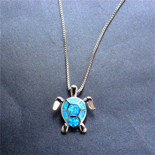 Opal Turtle Necklaces & Pendants (4 Colors) - Bamos